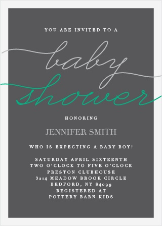 It's classy, it's elegant, it's formal... it's the Prestige Boy Foil Baby Shower Invitations!