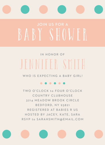Polka dots are always a classic! With the Polka Dot Girl Baby Shower Invitation, you can customize this invitation to match your baby shower theme.