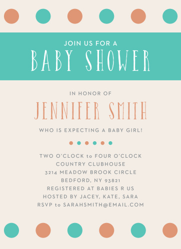 Polka dots are always a classic! With the Polka Dot Girl Foil Baby Shower Invitation, you can customize this invitation to match your baby shower theme.
