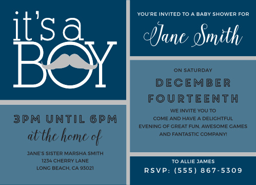 Mustache baby shower invitations match your color style free mustachio mayhem foil baby shower invitations filmwisefo