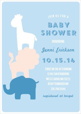 Safari Soiree Baby Shower Invitations