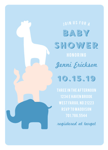 Elephant baby shower invitations match your color style free safari soiree baby shower invitations filmwisefo