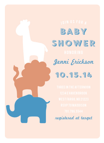 Elephant baby shower invitations match your color style free safari soiree foil baby shower invitations filmwisefo