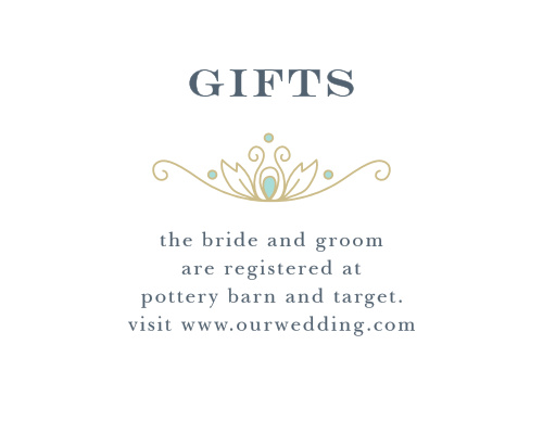 Guide guests to your wedding wish list with the Peacock Flourish Registry Cards.
