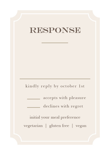 Collect RSVPs for your springtime wedding with the Sunflower Frame Response Cards.