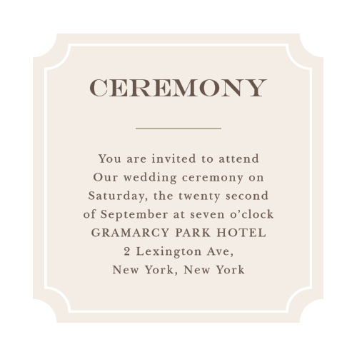Create completely customized invites to your ceremony with the Sunflower Frame Ceremony Cards.