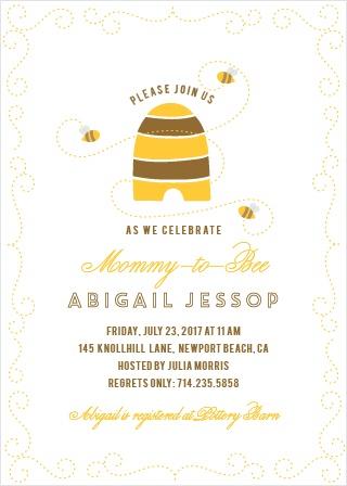 Honey Bee Baby Shower Invitations