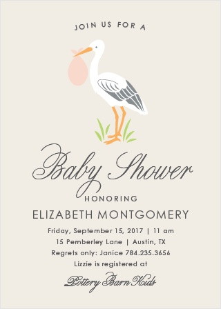 Stoked Stork Baby Shower Invitations