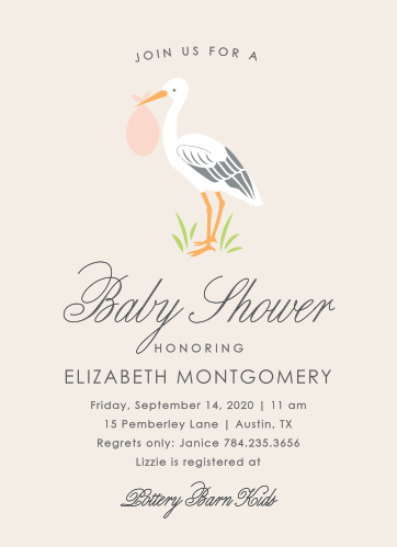 Stork baby shower invitations match your color style free stoked stork baby shower invitations filmwisefo