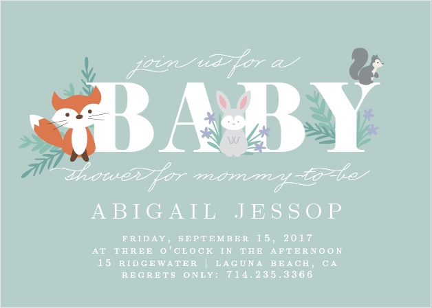Friendly Forest Baby Shower Invitations