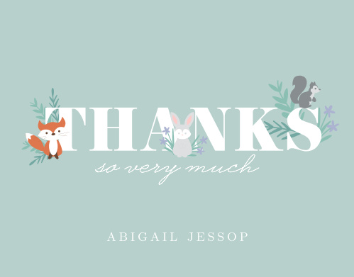 Give your guests your most sincere thanks with the whimsical charm of the Friendly Forest Thank You Cards.