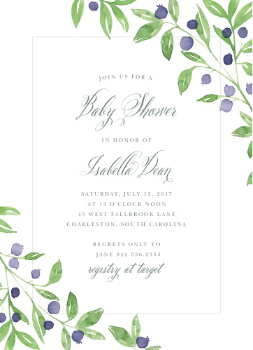 The Farmer's Market Baby Shower Invitation will give a fresh look to your baby shower invitations.