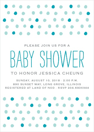 Painted Dots Baby Shower Invitations