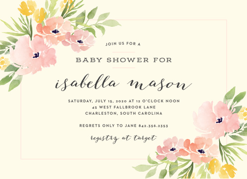 The Pretty Poppies Baby Shower Invitation will enchant all of your guests.