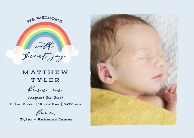 Colors of the Rainbow Birth Announcements