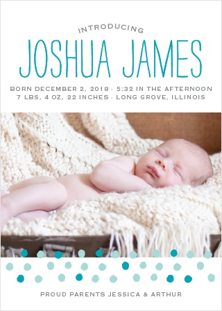 Painted Dots Birth Announcements