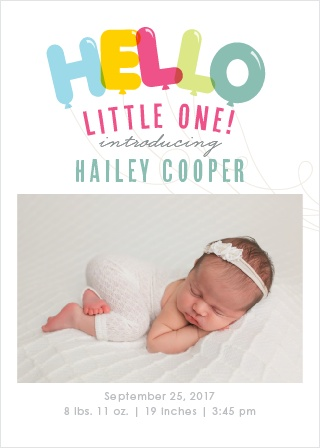 Bubble Balloons Birth Announcements