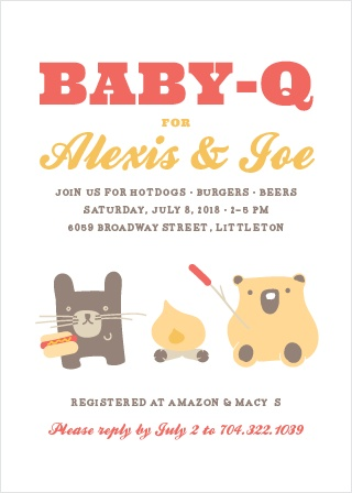 Cozy Cookout Baby Shower Invitations