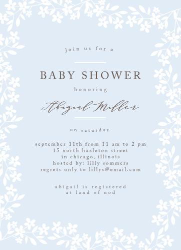 Flower Garden Baby Shower Invitations