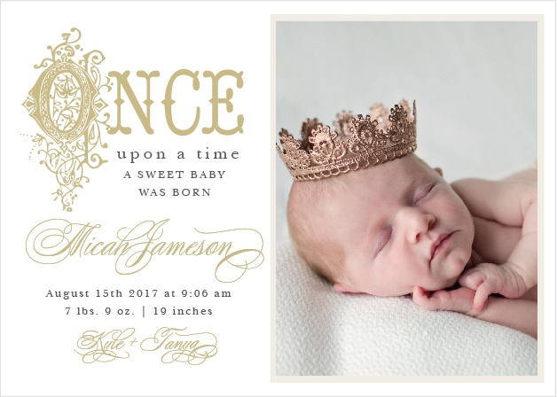 Once Upon A Time Birth Announcements