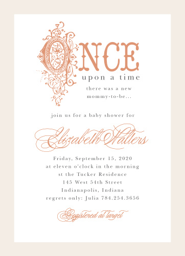 Once Upon A Time Foil Baby Shower Invitations