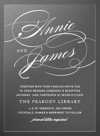 Simplicity Clear Wedding Invitations