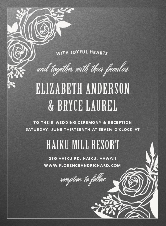 Rustic Flowers Clear Wedding Invitations
