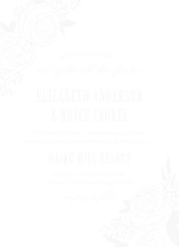 The Rustic Flowers Clear Wedding Invitations add a delicate floral touch to your wedding day details.