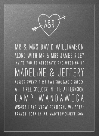 Lovestruck Clear Wedding Invitations