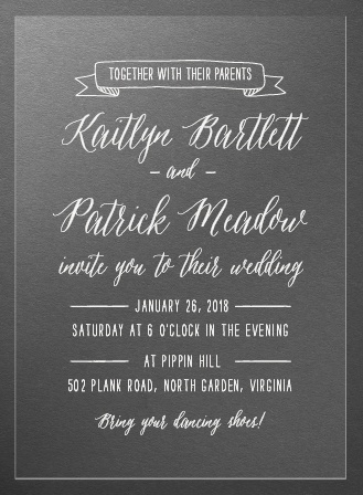 Lettering Clear Wedding Invitations