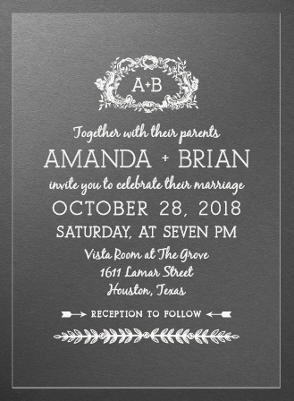 In Cursive Clear Wedding Invitations