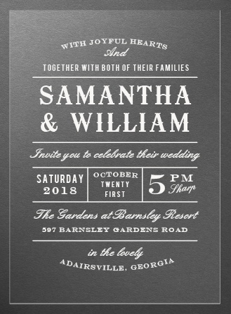Country Bash Clear Wedding Invitations