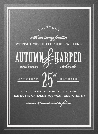 Antique Elegance Clear Wedding Invitations