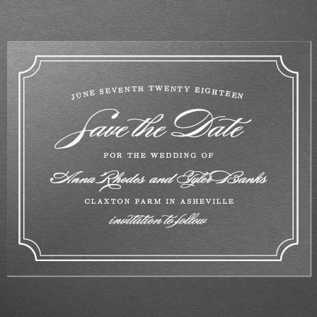 Simple Frame Clear Save-the-Date Cards