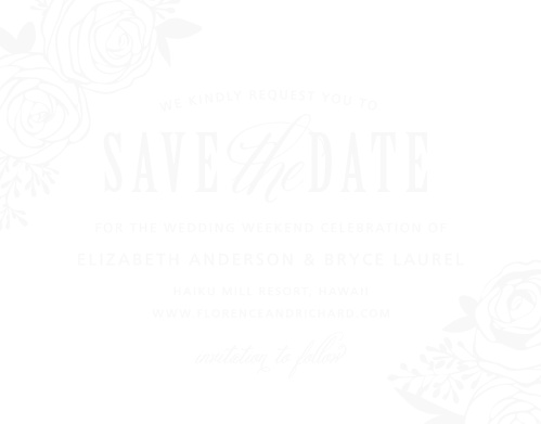 The Rustic Flowers Clear Save-the-Date Cards are the perfect way to announce your outdoor wedding.