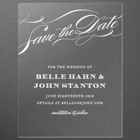 Cheri Clear Save-the-Date Cards