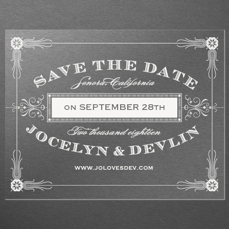 Antique Frame Clear Save-the-Date Cards