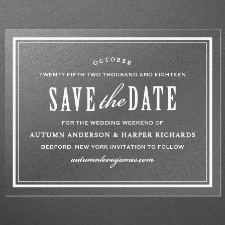 Antique Elegance Clear Save-the-Date Cards