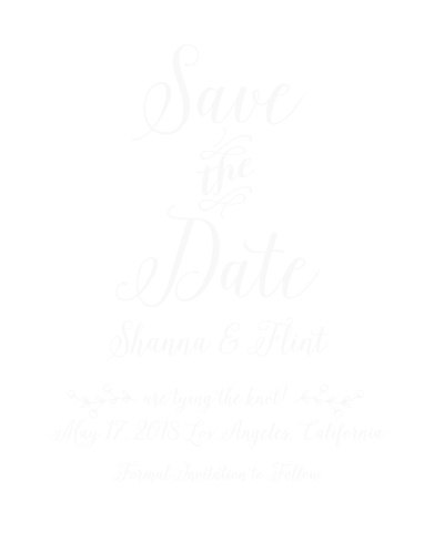 The Rustic Country Clear Save-the-Date Cards combine a rustic style with an elegant look.