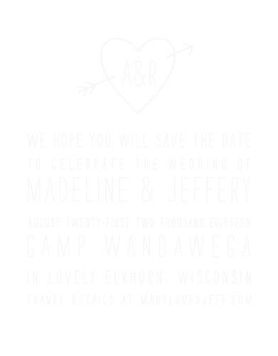 The Lovestruck Clear Save-the-Date Cards give you the feeling of a rustic backyard fairytale wedding!