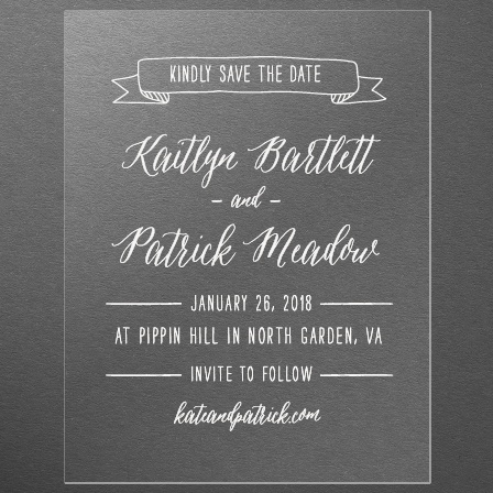 Lettering Clear Save-the-Date Cards