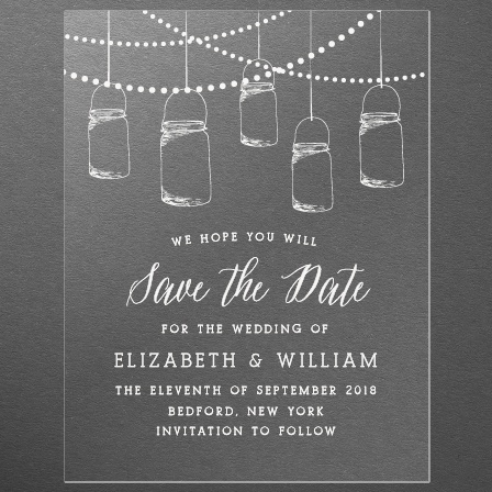 Lantern Lights Clear Save-the-Date Cards