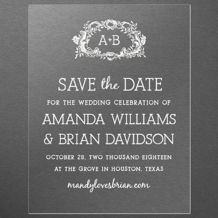 In Cursive Clear Save-the-Date Cards