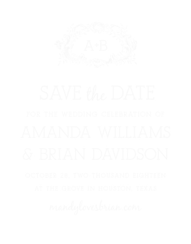The In Cursive Clear Save-the-Date Cards bring your loved ones the news of your engagement in a sophisticated fashion.