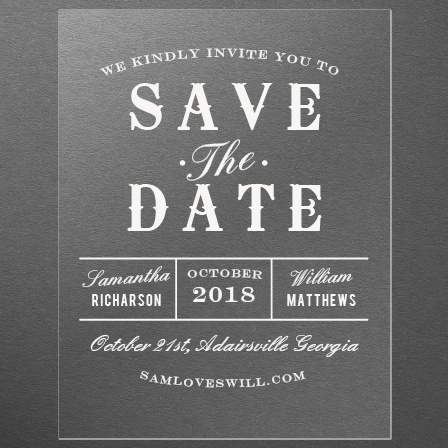 Country Bash Clear Save-the-Date Cards