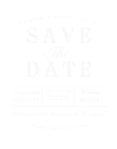The Country Bash ClearClear Save-the-Date Cards are full of personality!