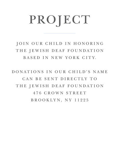 Once you've chosen a project, keep your guests on the same page with Thrilling Thirteen Bar Mitzvah Project Cards.