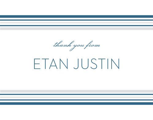 Make your appreciation tangible with these Tallis Bar Mitzvah Thank You Cards.