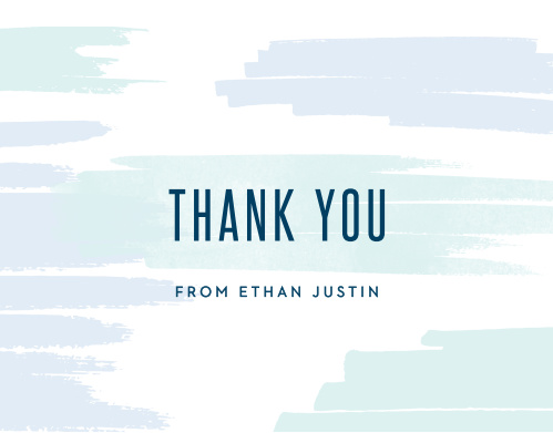 Your guests will appreciate the extra thought behind these Pleasant Paintbrush Bar Mitzvah Thank You Cards.