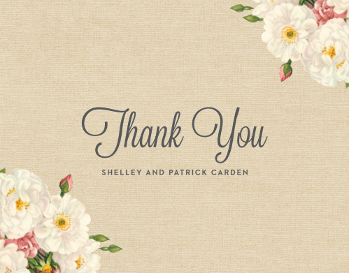 Make sure your friends and family know how much you appreciate them with the Le Jardinier Thank You Cards.